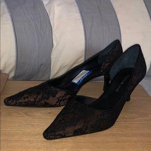 Bandolino | Black Lace Kitten Heel Pumps BRAND NEW